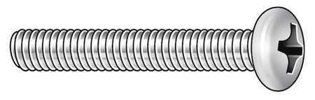 "#2-56 x 1/2"" Round Head Phillips Machine Screw,  100 pk."
