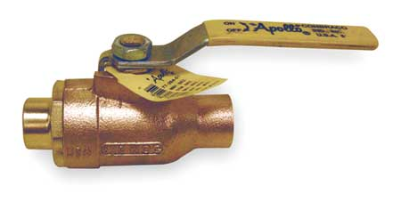 "1-1/4"" Sweat Bronze Ball Valve Inline"