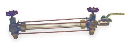 Water Gauge, Automatic, 1/2 In, MNPT, Bronze