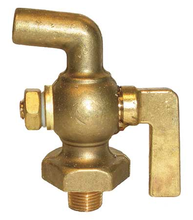 Air Cock, Size 1/8 In., Lever Handle
