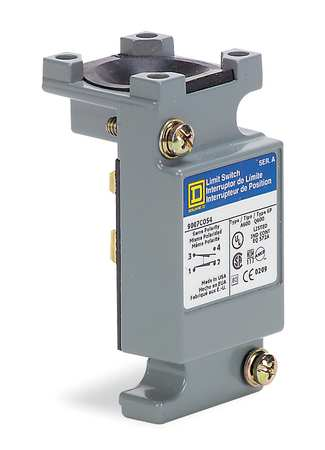 Limit Switch Body, 2NO/2NC, 10A @ 600VAC