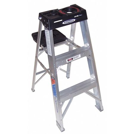 3' Aluminum 300 lb. Stepladder,  Type IA