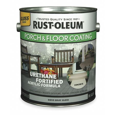 Floor Coating, 1 gal, Dove Gray