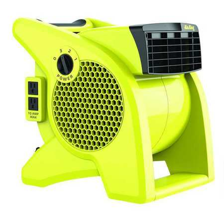 Portable Blower Fan, 120V, 350 cfm, Yellow