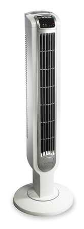 """36"""" Tower Fan,  Oscillating,  3 Speed,  120V,  White"""