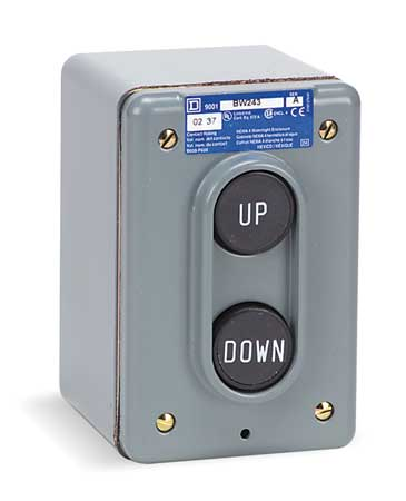 Push Button Control Station, 2NO, Up/Down