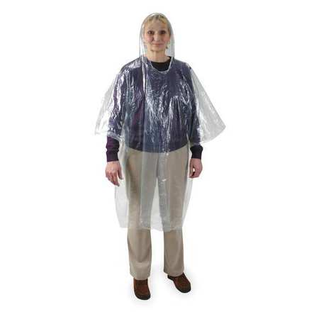 Disposable Poncho, Clear, PK24