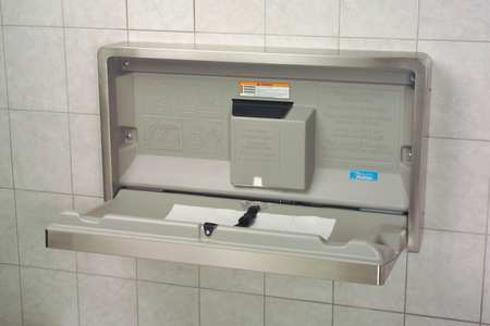 "Baby Changing Station 20"" x 35-1/4"",  Horizontal,  Flush Mount"