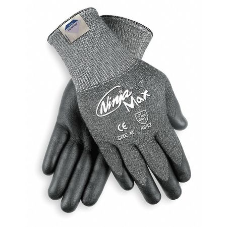 Cut Resistant Gloves, Nitrile, S, PR