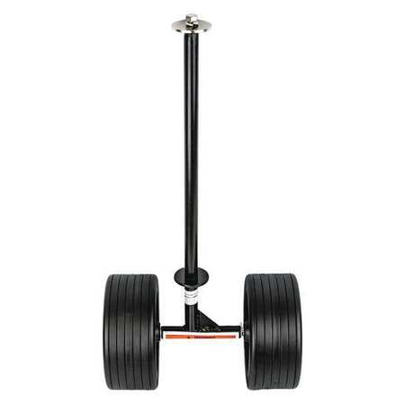 Extension Ladder Dolly, Aluminum/Plastic