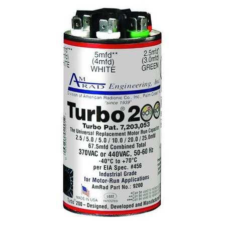 Motor Run Capacitor, 2.5-67.5MFD, 370/440V