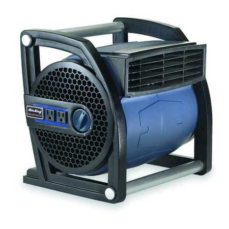 Portable Blower Fan, 120V, 425 cfm, Blue