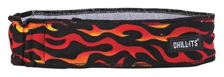 Headband, Flames, One Size, Terrycloth