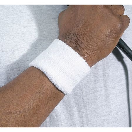 Wristband, White, One Size, PK2