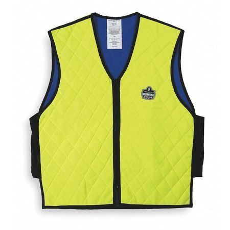 Cooling Vest, XL, Hi-Vis Lime, 24 In. L