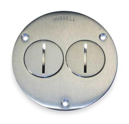hubbell wiring device-kellems floor box cover, round, 6-1/4 in