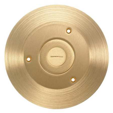 Floor Box Cover, Round, 6-1/4 in., Brass