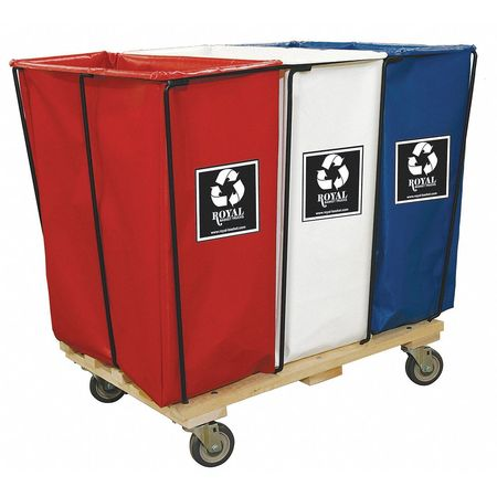 Enviro Cart, 23.3 cu ft, 3 Compartments