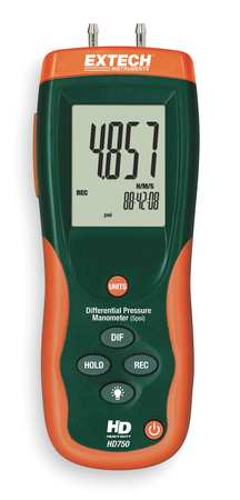 Digital Manometer, 0 to 138.3 In WC