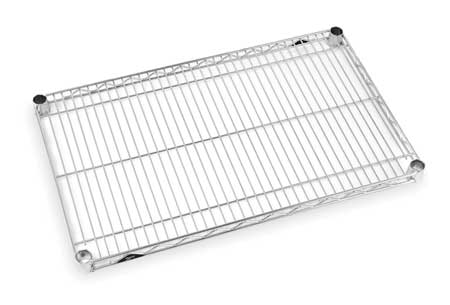 Wire Shelf, 1-1/8 H x 72 W x 24 in. D, PK5