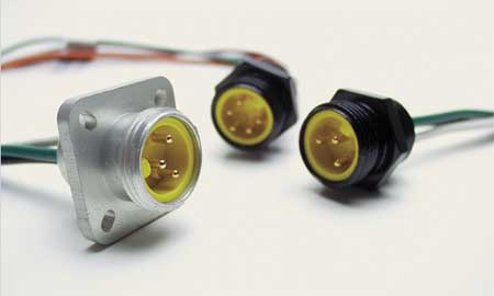 External Thread Receptacle, 6, Male, 16 AWG