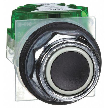 Non-Illuminated Push Button, 30mm, Black