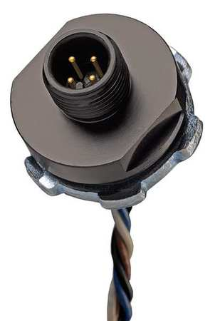 External Thread Receptacle, 5, Male, 22 AWG