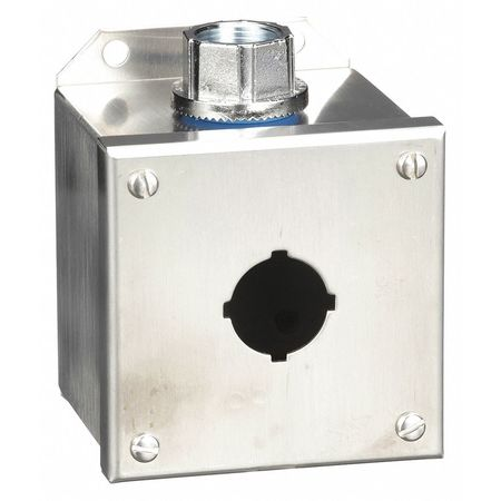 Pushbutton Enclosure, 30mm, 1 Hole, 304 SS