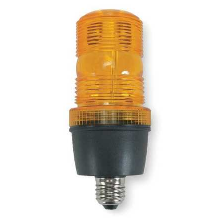 Warning Light, Strobe Tube, Amber, 120VAC