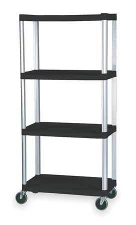 Shelving, Open, Freestndng, Plastic, 72-1/4""