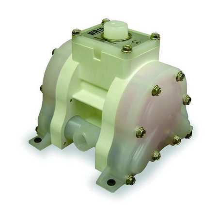 "3/8"" Polypropylene Air Double Diaphragm Pump 5 GPM 175F"