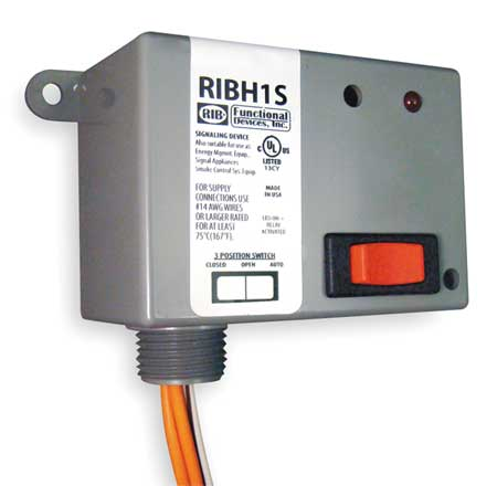 Enclosed Pre-Wired Relay, 10A@277VAC, SPST