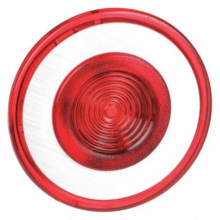 Illuminated Push Button Cap, 30mm, Red
