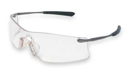 Crews Clear Safety Glasses,  Anti-Fog,  Scratch-Resistant,  Frameless