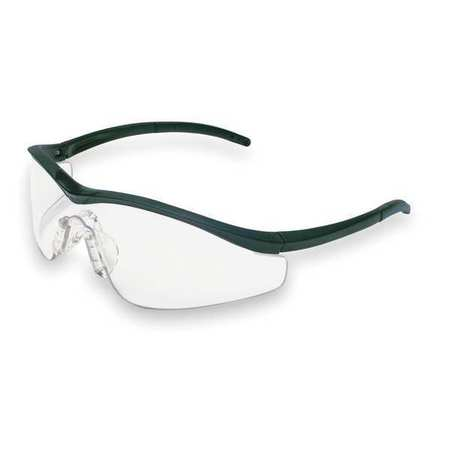 Crews Clear Safety Glasses,  Anti-Fog,  Scratch-Resistant,  Half