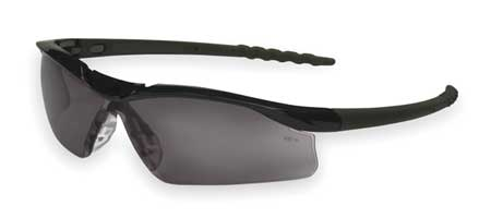 Crews Gray Safety Glasses,  Scratch-Resistant,  Wraparound