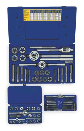 Tap and Die Set, 66 pc, High Carbon Steel