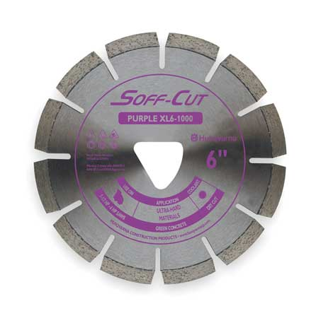 Diamond Saw Blade, Masonry, 6 in. Dia.