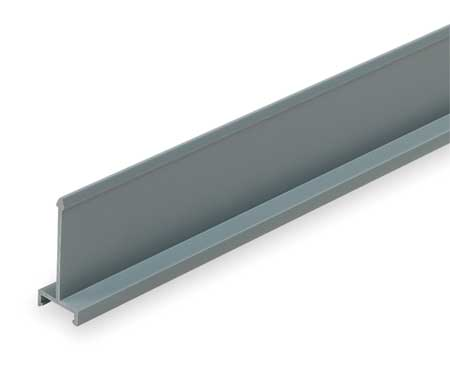 Divider Wall, 3 In H, Solid, Gray, 6ft. L