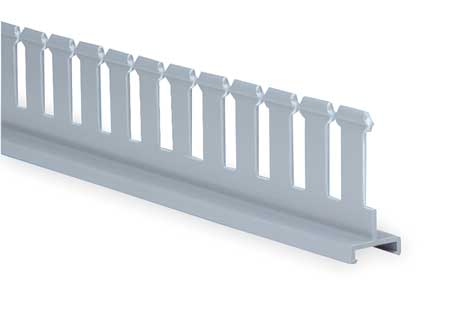 Divider Wall, 3 In H, Slotted, Gray, PVC