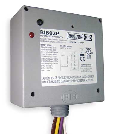 Enclosed Pre-Wired Relay, 20A@300VAC, DPDT