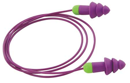 Reusable Ear Plugs, 27dB, Corded, Univ, PK50