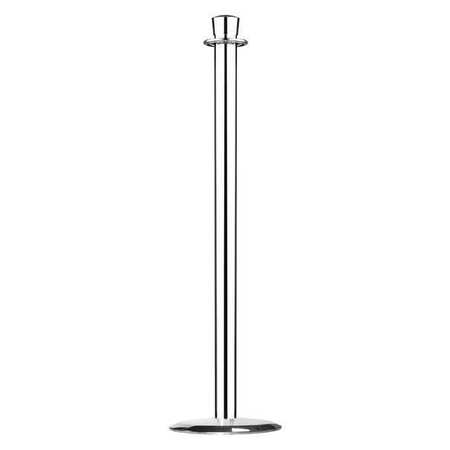 Urn Top Rope Post, Polished Chrome