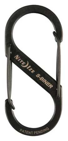 Double Gated Carabiner, 2-5/8 In., Black