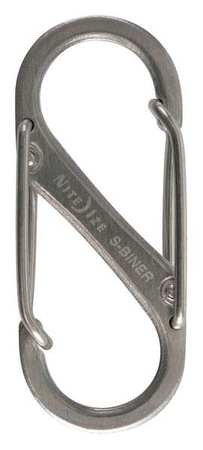 Double Gated Carabiner, 1-9/16 In., PK2