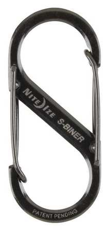 Double Gated Carabiner, 2 In., Black