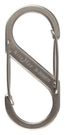 Double Gated Carabiner, 2-5/8 In., Silver