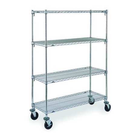 Adjustable Shelf Wire Cart, 24 In. W