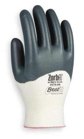 Coated Gloves, L, Gray/White, PR