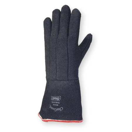 Heat Resistant Gloves, Black,  L, PR